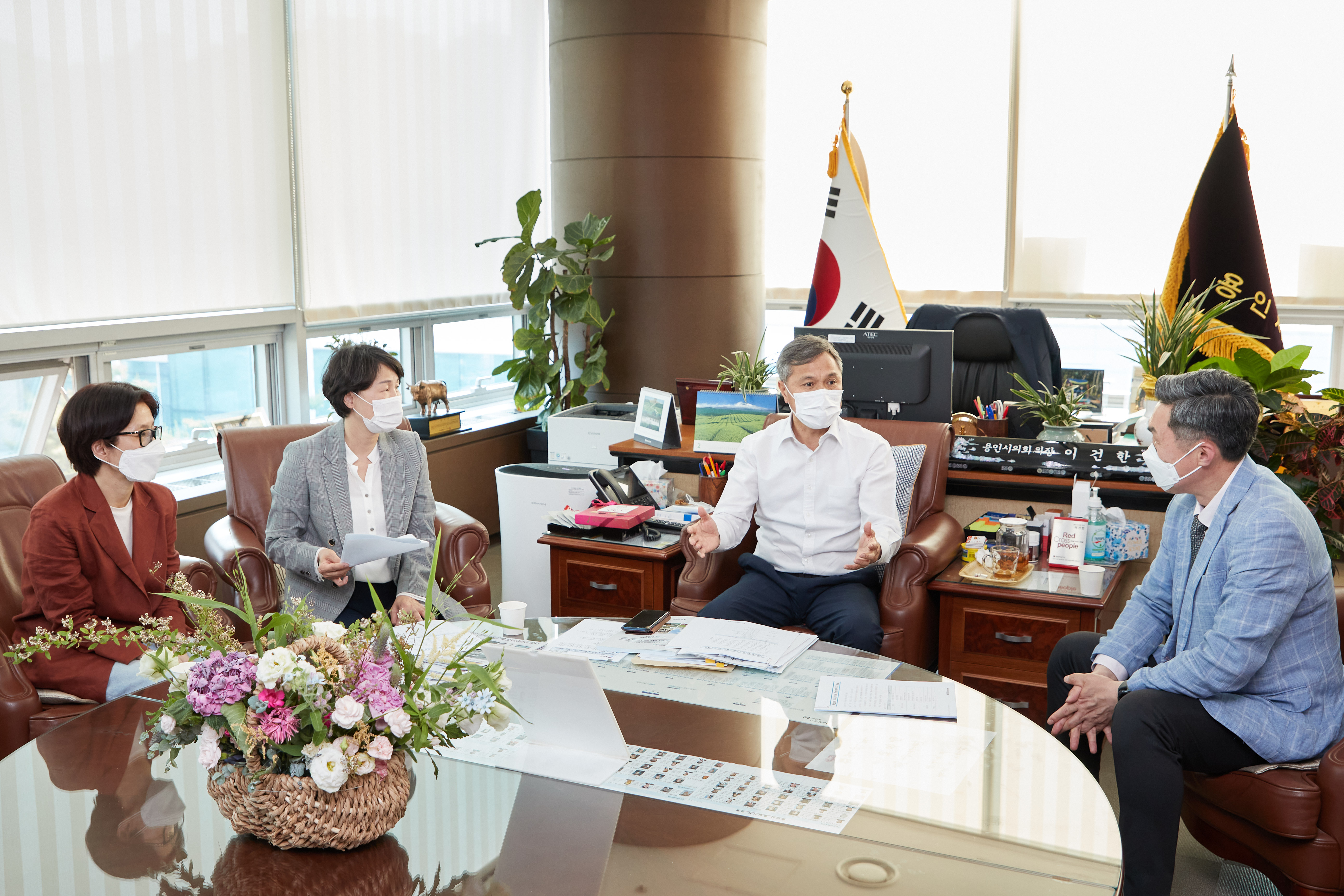 용인시의회 이건한 의장, 독립운동가 오희옥 여사 후손 면담