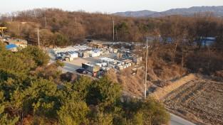 용인시 처인구 원삼면 석재 가공공장에서 수십년간 불법 폐기물 투기의혹